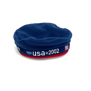 USA Olympics 2002 Team Winter HAT roots official 100% polyester One Size NWT