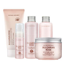 NATURE REPUBLIC Bulgarian Rose Cleanser, Toner, Emulsion, Essence, Cream 1SET
