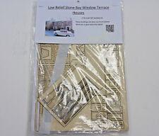 Milford Models 00 Gauge 1:76 Scale Low Relief Bay Window Terrace Brick Houses