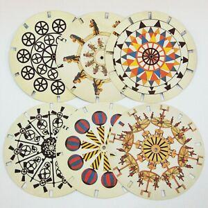 Phenakistiscope stroboscope discs set