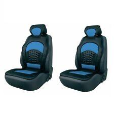 2 x Komfort Automax Sitzbezüge Sitzauflagen blau schwarz Rückenstütze Auflage