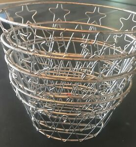 "Multi use Silver Metal Basket Lot of 12 per set, size is 8"" X 6"" X5"""