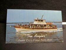 """Party Boat """"The ANGLER"""" Ocean City, MD Naval Cover unused postcard"""