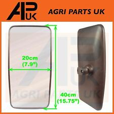 """Side Wing Mirror Head 40cm x 20cm Truck Lorry Bus Tractor 16"""" x 8"""" with Glass"""