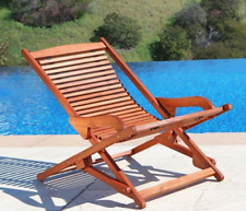 New Malibu Outdoor Wood Folding Lounge Armchair V157 VIP Relax Chair