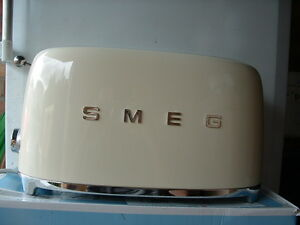 Smeg TSF02CRUK Cream 50's Retro Style 4 Slice Toaster-Customer Return-Warranty