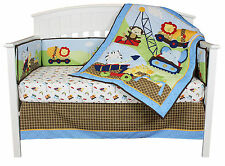 Under Construction 4 Piece Jungle Baby Crib Bedding Set with Bumper by Riegel