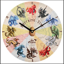 NEW HATCHING TIME BABY DRAGON WALL CLOCK HANGING 34CM DIAMETER AD_67216