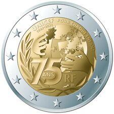 France 2 euro 2021 - 75 ans UNICEF UNC