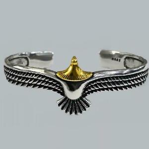 Silver Eagle Cuff Bracelet Unisex K2D8
