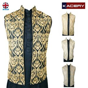 Men's Indian Silk Embroidered Waist Coat Nehru Jacket Modi Jacket  MJ2020