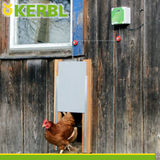 Kerbl Komplett-Set: Automatische Hühnertür inklusive Steuerung | 300 x 400 mm