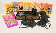 Atari 2600 Woodgrain 6 Switch System with 13 games and 6 controllers - working!