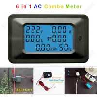 AC Combo Meter 220V Voltage Amp 100A Power Watt Energy Split Core Current Sensor