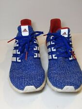 Adidas Ultra Boost Continental Men's Blue White Red Athletic Shoes Size 10.5