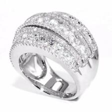 Brilliant 2.95 Ctw Round Dome DIAMOND Wedding Anniversary BAND Ring 14K Gold