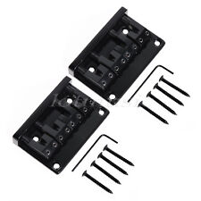 2 Set Black 4 String Bass Guitar L Shape Saddle Bridge 18mm String Spacing