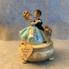 Vintage Josef Originals Dancing Boy And Girl To The Anniversary Waltz With Tags