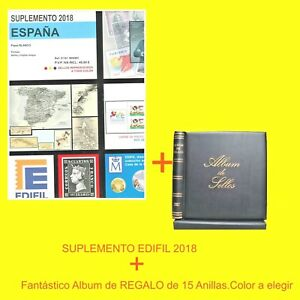 Suplemento  EDIFIL 2018.Bloque 4.Con Estuches T + 1  Album fantástico de Sellos.