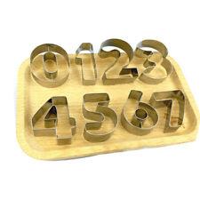 9 Pcs/set Number Letter Cookie Biscuit Stamp Cutter Embosser Cake Mould New