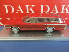 1/43 Modellino Auto Ford Ltd Country Squire 1968 Red by Kess