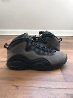 Nike Air Jordan Retro 10 Dark Shadow Black Gray With Box Men's Size 11.5