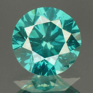 0.55 cts. CERTIFIED Round SI2 Vivid Sky Blue Color Loose Natural Diamond 23112
