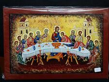 The Last Supper Greek Orthodox Byzantine Icon 31.5x21cm