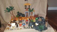 Playmobil Lot Pirate Cove, Prison Carcel, Skull Island Rare VGUC