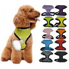 Nylon Pet Puppy Soft Mesh Dog Harness Strap Vest Collar XS Size Yellow