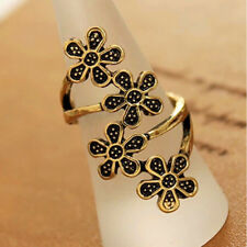 Fashion Bronze Beauty Delicate Retro Cute Elegant Plum Flower Women Finger Rings