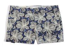 J Crew Factory - Women's 00 (XXS) - NWT - Blue Hibiscus Floral Cotton Shorts