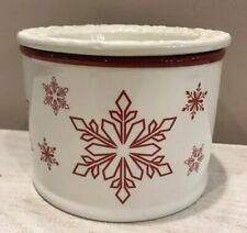 Chilled Dip Sauce Nut Bowl Off White Red Snowflake