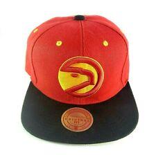 Atlanta Hawks Mitchell & Ness Snapback Hat Cap NBA Red Black
