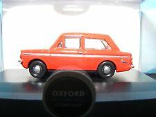 Hillman Imp Super Firebrand Red / White trim Oxford 00 Gauge 1:76rd New item