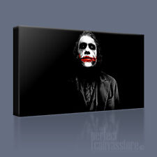 Il JOKER HEATH LEDGER Awesome BATMAN CAVALIERE OSCURO CANVAS ART PRINT ART williams2