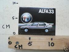 STICKER,DECAL ALFA ROMEO ALFA 33 CAR AUTO