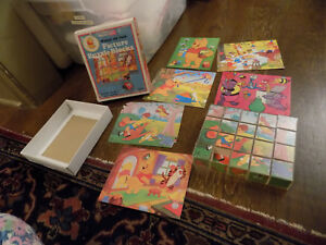 Vtg ADORABLE Sears Winnie The Pooh Picture Puzzle Blocks 6 Scenes Heffalumps +