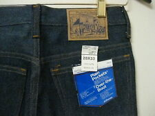 NWT New Plain Pockets Jeans Men's Size 28x33 Over The Boot Denim Vintage VTG  BK