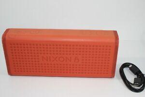 Nixon The Blaster Portable Wireless Bluetooth Speaker Orange Iphone Android OEM