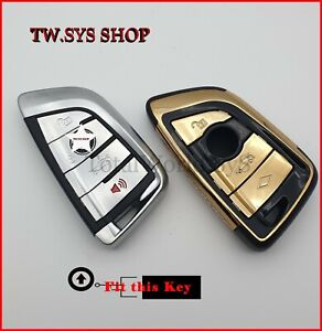 Key Case Cover for BMW ☆ Full Shell ☆ X5,X6,F15,16 ☆ ABS-Plastic ☆ Keyless ☆GOLD