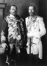 Tsar Nicholas II of Russia with King George V of England