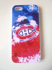 Case Cover White Plastic Iphone 5 5S Montreal Canadiens Logo Habs NHL