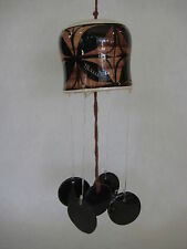 Beautiful Hawaiian Maui Hand Painted Art Pottery Wind Chime