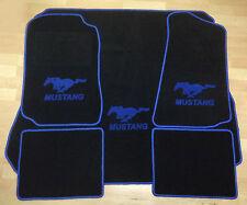 Autoteppich Fußmatten Kofferraum Set für Ford Mustang Coupe 94-04 5tlg. blau