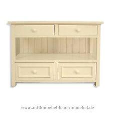 Kommode,Anrichte,Küchenschrank,Siderboard,Weichholz,Landhausstil/-möbel, weiß