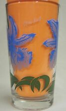 Orchid Peanut Butter Glass Glasses Drinking Kitchen Mauzy 77-8