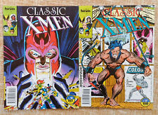 Comics, Classic X-Men, nº 17 y 18, Vol. I, Marvel, Forum, C. Claremont, 1989/90
