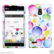 LG Optimus L9 T-Mobile P769 Snap-On Case Cover Accessory Rainbow Bubbles