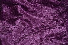 "PANNE VELVET CRUSHED BACKDROP VELOUR STRETCH FABRIC 60"" WIDE PLUM 45 YARDS ROLL"